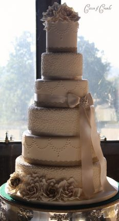Cakes wedding - torte nunziali per matrimonio-color caffe latte