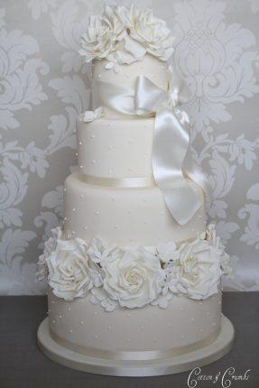 Cakes wedding - torte nunziali per matrimonio-con il nastro