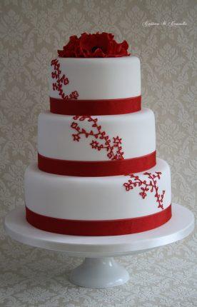 Cakes wedding - torte nunziali per matrimonio-detagli rossi