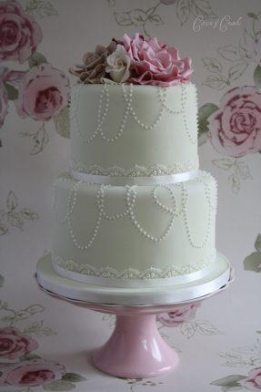 Cakes wedding - torte nunziali per matrimonio-due piani con fiori