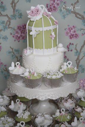 Cakes wedding - torte nunziali per matrimonio-verde rosa