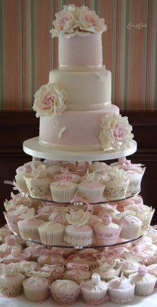 Cakes wedding - torte nunziali per matrimonio toni rosa