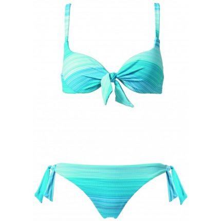 Calzedonia bikini celeste a righe estate 2014