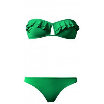 Calzedonia bikini verde con rouches