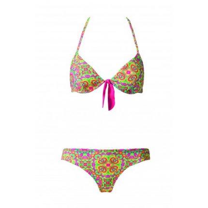 Calzedonia costume due pezzi stampa tropicale estate 2014