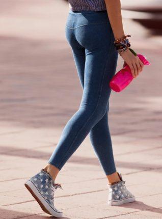 Calzedonia leggings in denim primavera estate