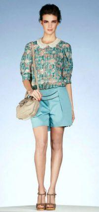 Camicetta-e-shorts-color-acqua-marina-Motivi-estate-2013