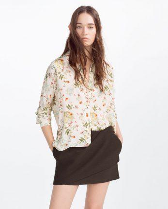 Camicia a fiori Zara primavera estate