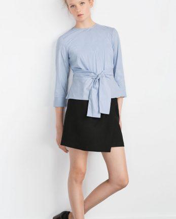 Camicia con cintura Zara primavera estate