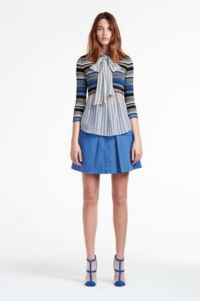 Camicia con fiocco Elisabetta Franchi autunno inverno 2017