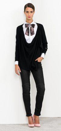 Camicia con fiocco Nenette autunno inverno 2015