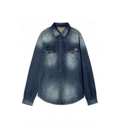 Camicia di jeans Sisley autunno inverno 2017