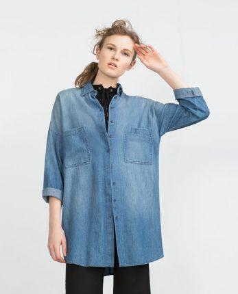 Camicia di jeans Zara primavera estate