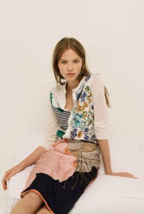 Camicia e gonna stampa fantasia Nina Ricci primavera estate 2014