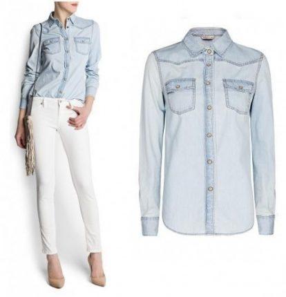 Camicia e pantalone di jeans Mango primavera estate 2013