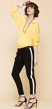 Camicia gialla Artigli primavera estate