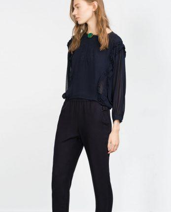 Camicia in georgette Zara primavera estate