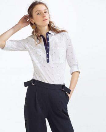 Camicia maniche tre quarti Zara primavera estate