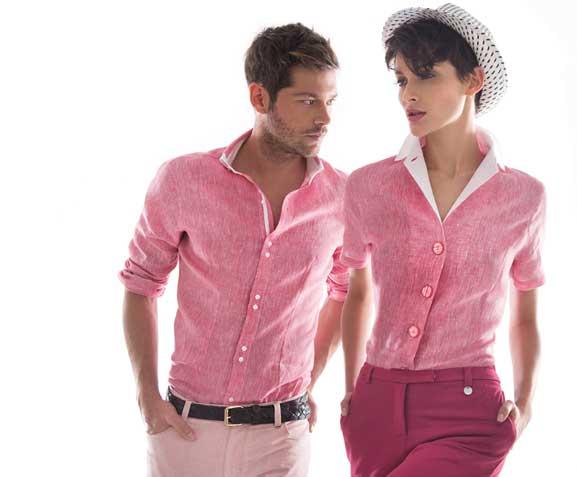 Camicia rosa uomo donna Nara Camice primavera estate 2013