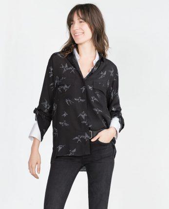 Camicia stampata Zara primavera estate