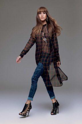 Camicia trasparente Denny Rose autunno inverno 2015