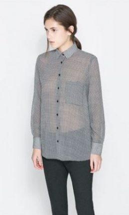 camicia trasparente Zara primavera estate 2014
