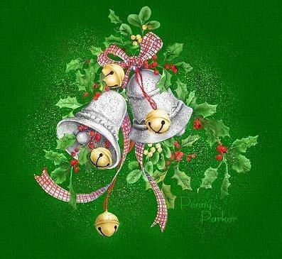 Campanelle natalizie con vischio