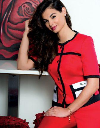 Canella tailleur rosso primavera estate 2013