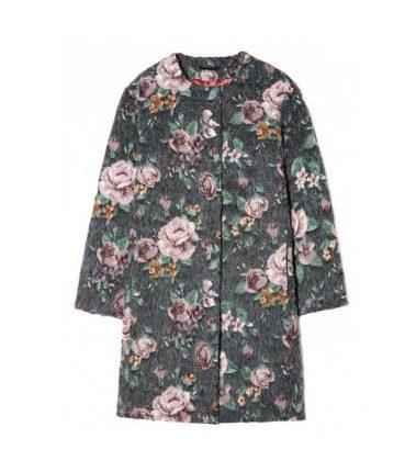 Cappottino con fiori Sisley autunno inverno 2017