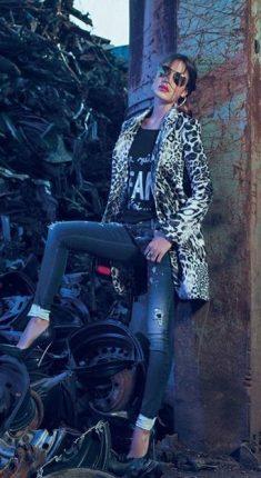 Cappotto animaglier Denny Rose autunno inverno 2015