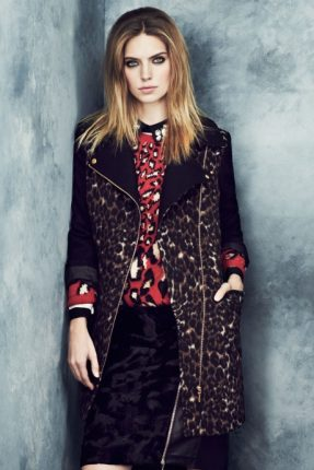 Cappotto animalier Marks & Spencer autunno inverno 2013 2014