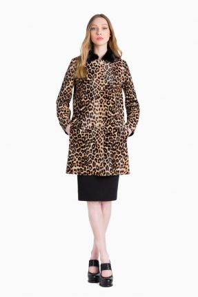 Cappotto animalier Twin Set Simona Barbieri autunno inverno 2017