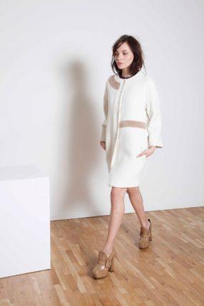 Cappotto bianco Annie P autunno inverno 2015