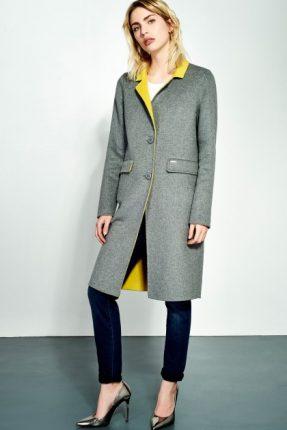 Cappotto bicolore Liu Gio inverno 2017