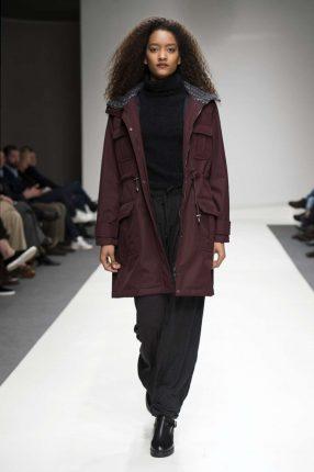 Cappotto burgundy Stefanel autunno inverno 2017