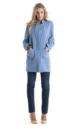 Cappotto celeste Cannella autunno inverno 2015