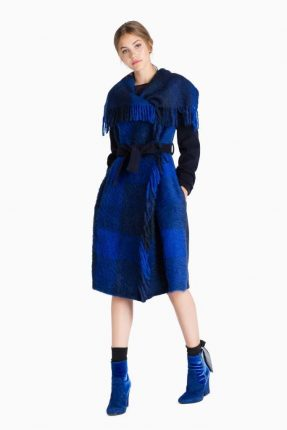 Cappotto check Twin Set Simona Barbieri autunno inverno 2017