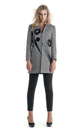 Cappotto con ricami Cannella autunno inverno 2015