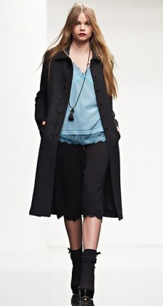 Cappotto con ricamo Twin Set autunno inverno 2015