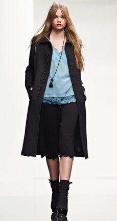 Cappotto con ricamo Twin Set autunno inverno 2015