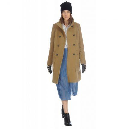 Cappotto doppiopetto in panno Stefanel autunno inverno 2015