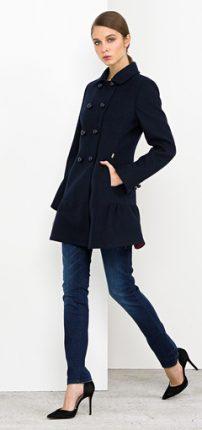 Cappotto doppiopetto Nenette autunno inverno 2015