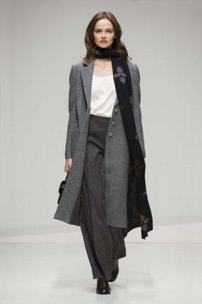 Cappotto grigio Stefanel autunno inverno 2017