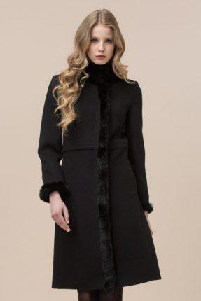 Cappotto in lana con inserti in pelliccia Luisa Spagnoli inverno 2017