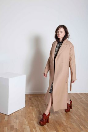 Cappotto lungo Annie P autunno inverno 2015