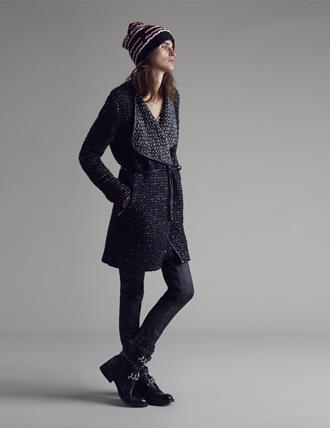 Cappotto maglia Pinko autunno inverno 2015