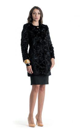 Cappotto nero Cannella autunno inverno 2015
