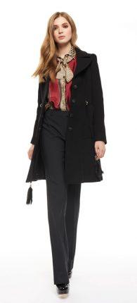 Cappotto nero Cristinaeffe autunno inverno 2017