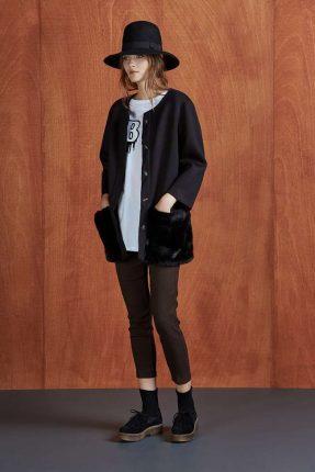 Cappotto nero Dixie autunno inverno 2017