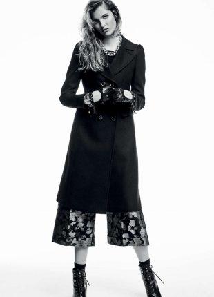 Cappotto nero Liu Jo autunno inverno 2017